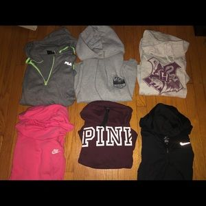Nike, FILA, PINK, and Harry Potter hoodie .